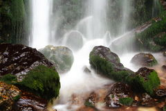 Refreshing waterfall Stock Photography