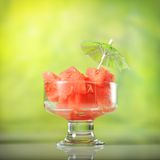 Refreshing watermelon dessert Royalty Free Stock Photo