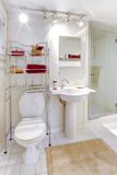 Refreshing white bathroom stock photography
