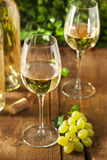 Refreshing White Wine in a Glass Stock Image