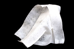 Refreshing wipe. Isolated on black Royalty Free Stock Photography