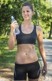 Refreshing after a workout Royalty Free Stock Photos
