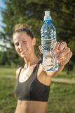 Refreshing after a workout Stock Image