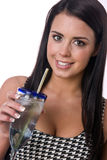 Ice Water Clean Healthy Refreshment Woman Hydrates Royalty Free Stock Photography