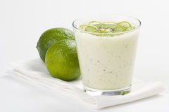Refreshment and creamy milkshake  kiwi and lime Royalty Free Stock Photography