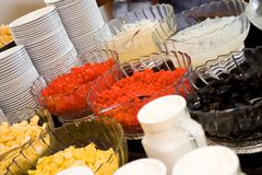 Refreshment dessert buffet Royalty Free Stock Image