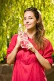 Refreshment för kallt vatten. fotografering för bildbyråer