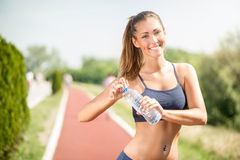 Refreshment After Jogging Stock Image