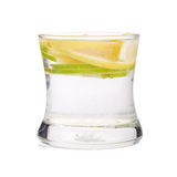 Refreshment with lemon and green apple.  Royalty Free Stock Photography