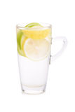 Refreshment with lemon and green apple.  Royalty Free Stock Images