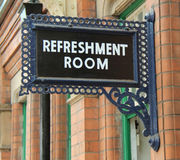 Refreshment Room Sign. A Refreshment Room Sign at a Vintage Railway Station Royalty Free Stock Image