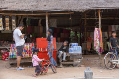 Refreshment seller in Angor Wat Stock Images
