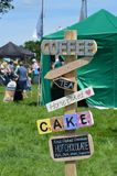 Refreshment sign. Refreshment sign at a village fete Royalty Free Stock Photography