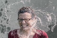 Refreshment, Splash, Water, Woman Royalty Free Stock Photos