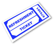 Refreshment ticket Stock Photos