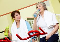 Refreshment after training Royalty Free Stock Photo