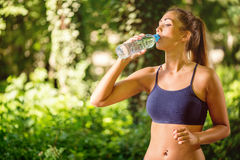 Refreshment After Training Royalty Free Stock Photos