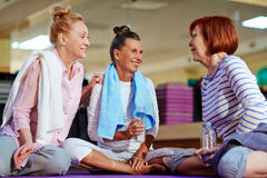 Refreshment after workout Royalty Free Stock Photography