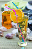 Refreshments on the beach Stock Photography