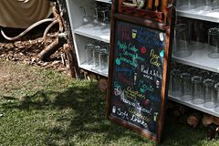 Refreshments Menu, Garden Party Royalty Free Stock Images