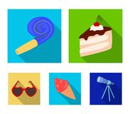 Refreshments and other accessories at the party.Party and partits set collection icons in flat style vector symbol stock. Illustration Stock Images