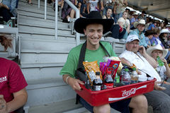 Refreshments seller, Calgary Stampede Stock Images