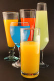 Refreshments of various colors Royalty Free Stock Image