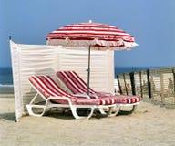 Refresqúese en la playa Foto de archivo libre de regalías