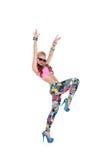 Refresque a la muchacha del bailarín en gafas de sol Fotos de archivo libres de regalías
