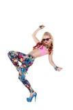 Refresque a la muchacha del bailarín en gafas de sol Fotografía de archivo