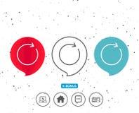 Refresque a linha ícone Sinal da seta da rotação ilustração stock