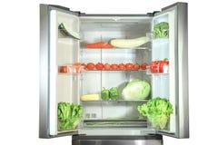 Refrigerador abierto Imagen de archivo libre de regalías