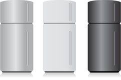 Refrigerador aislado en blanco Foto de archivo libre de regalías