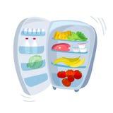 Refrigerador al aire libre con la comida Fotos de archivo libres de regalías