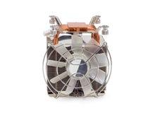 Refrigerador ativo do processador central com as tubulações de calor do fã e do cobre Fotografia de Stock
