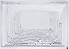 Refrigerador branco aberto do congelador Foto de Stock