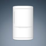 Refrigerador cerrado moderno de la puerta del blanco dos Imagen de archivo libre de regalías