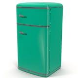 Refrigerador clássico Isolado no branco ilustração 3D ilustração royalty free