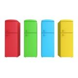 Refrigerador colorido quatro ilustração stock