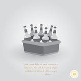 Refrigerador com cerveja Imagem de Stock Royalty Free