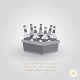Refrigerador con la cerveza Imagen de archivo libre de regalías