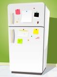 Refrigerador con las notas Fotos de archivo