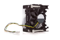 Refrigerador de la CPU aislado Imagenes de archivo
