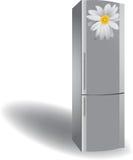 Refrigerador de prata Fotos de Stock