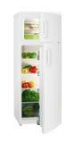 Refrigerador del blanco de dos puertas Imágenes de archivo libres de regalías