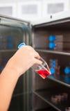 Refrigerador del laboratorio Foto de archivo