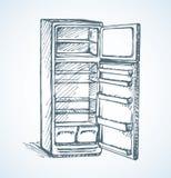 refrigerador Desenho do vetor Foto de Stock Royalty Free