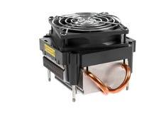 Refrigerador do processador central isolado no branco Imagens de Stock
