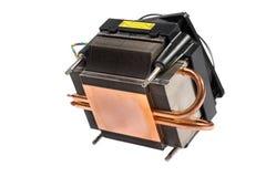 Refrigerador do processador central isolado no branco Fotos de Stock