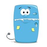Refrigerador dos desenhos animados Fotos de Stock Royalty Free